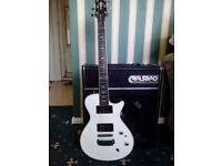 Hagstrom guitar case and amp