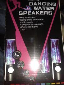 Dancing water speakers used 1 time