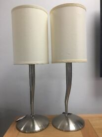 Brushed Chrome table lamps