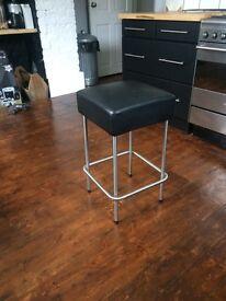 single Julius ikea Bar stool black leather