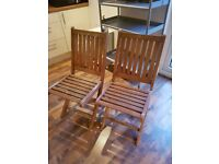 x2 Deck Chairs