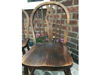 Pair of Old Wooden Kitchen Chairs
