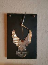 Hand made harley Davidson clock
