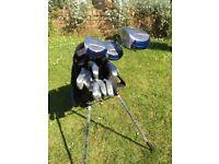 Dunlop Exceed golf set & Ryder golf trolley