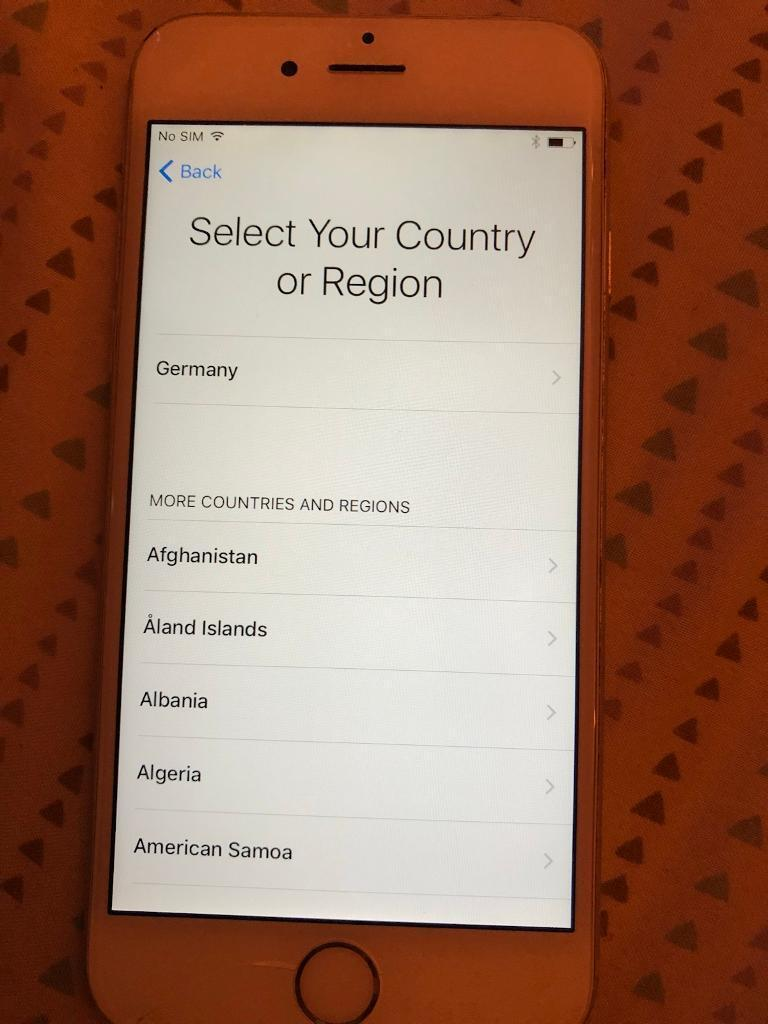 iPhone 6 16gb silver on Vodafone