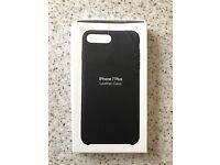 NEW BOXED Genuine Apple iPhone 7 Plus Leather Case - Black