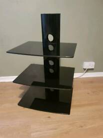 3 tier glass floating shelves