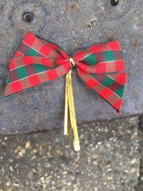 1000's of twist ties ribbon bows, used on handmade Christmas Crackers