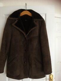 Ladies suede coat size 16
