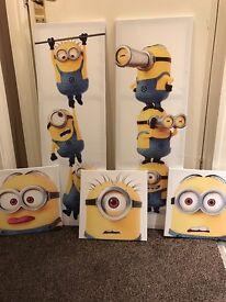 Minion Canvas' x 5