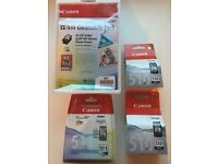 Genuine Canon Pixma printer cartridges
