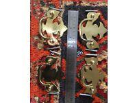 4 cast brass drawer handles