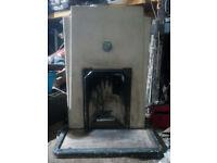 art deco fireplaces (a pair)