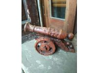 Large wooden cannon