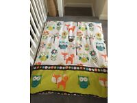 "Complete ""Woodland Creatures"" Toddler / Nursery bedding set"