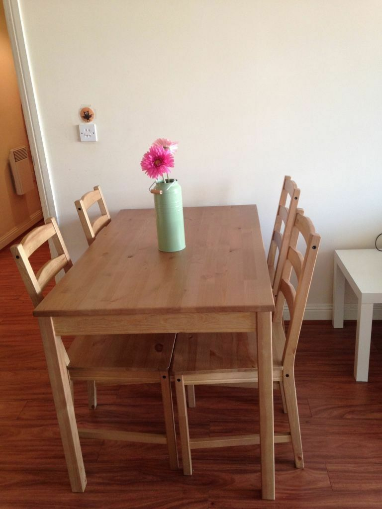 Ikea jokkmokk table and 4 chairs in watford for Table watford