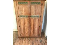 Beautiful limed oak period wardrobe