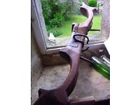 French Antique Oxon/Horse Yoke - Wooden with Metal Fittings