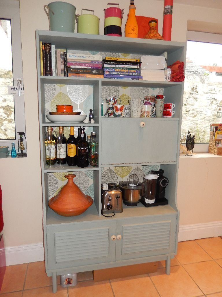Retro Style Cabinet Kitchen Or Dining Room Storage Drinks Painted