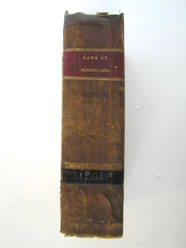 207 Year Old ANTIQUE LAW BOOK  Supreme Court  PA   1812