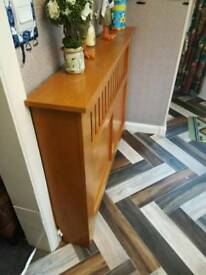 Solid wood radiator cover