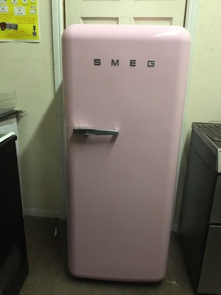 Smeg fridge freezer with ice box pink 3 months warranty free local delivery!!!!!!!!!