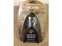 Monster hdmi cable cheap. Unopened. 2 metres long. New. Ultimate high speed 1250 model.