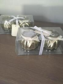 4 x candle holders, ideal for wedding