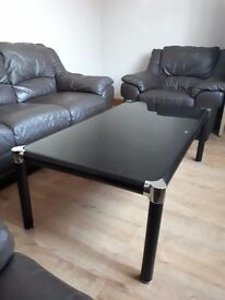 Immaculate black coffee table