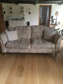 Sofa, snuggle seat & footstool (Good condition)