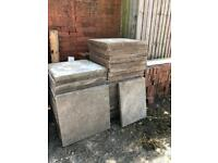Good condition: Thick concrete slabs 24x24