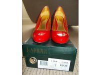 Ralph Lauren red patent leather shoes. Size 39
