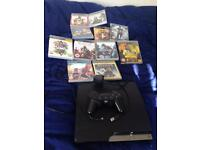 PS3 with Controller and 11 Games