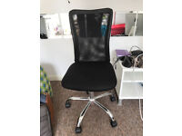Sturdy desk chair, used condition. Great for the office or bedroom.