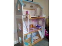 Dolls house and furniture.
