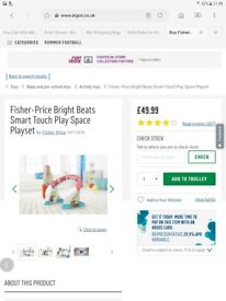 Brand new fisher price bright beats play space