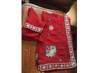 Red saree worn once £30