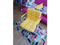 Bright yellow office chair