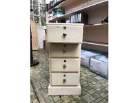 VINTAGE STYLE SET OF DRAWERS IN FARROW AND BALL MATCHSTICK(SHABBY CHIC)