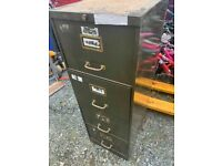 Vintage Roneo 4 drawer filing cabinet