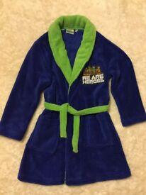 Teenage mutant ninja turtles dressing gown. Age 6 years