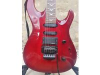Deep Red Samick Artists Series Guitar with Floyd Rose Tremolo NEW Original