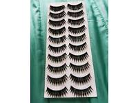 Strip lashes for sale x10 in a pack