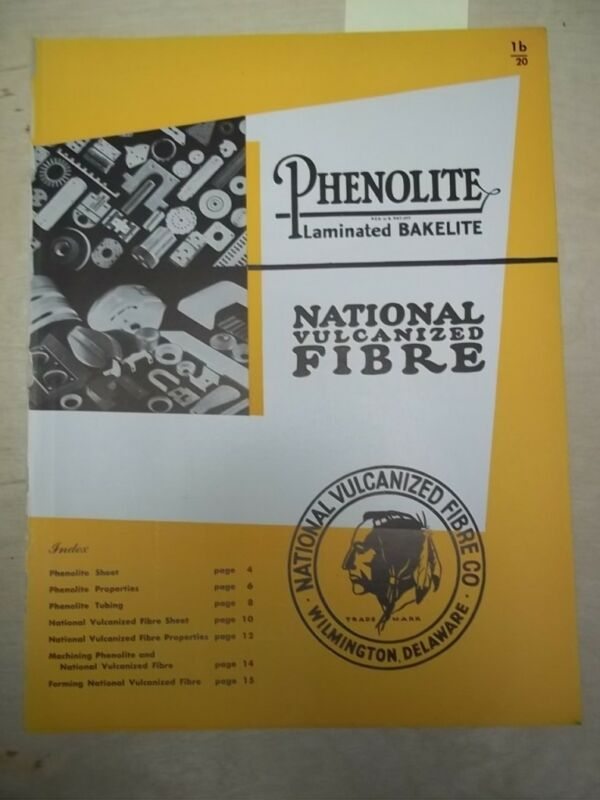 Vtg National Vulcanized Fibre Catalog~Asbestos~Phenolite Sheets&Tubing