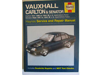 Haynes Workshop Manual - Vauxhall Carlton & Senator (86-94) ISBN 1 85960 221 5