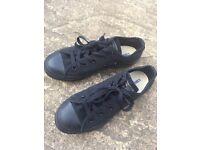 Brand new converse black trainers U.K. Size 2