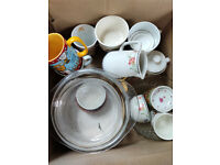 Cups , saucers, plates, Total 20- 25 items 15 quids. collection only E12 6LB