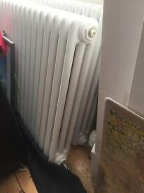 Old style white 3 column radiators