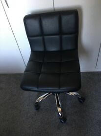 Leather and chrome office chairs