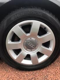 Audi alloy wheels 17 good tyres